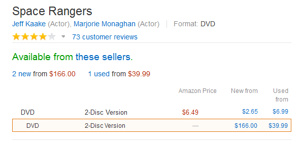 An image captured from Amazon.com under the listing Space Rangers.